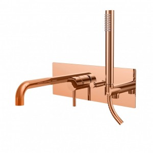 Paffoni Light bateria wannowa podtynkowa Rose Gold LIG001ROSE